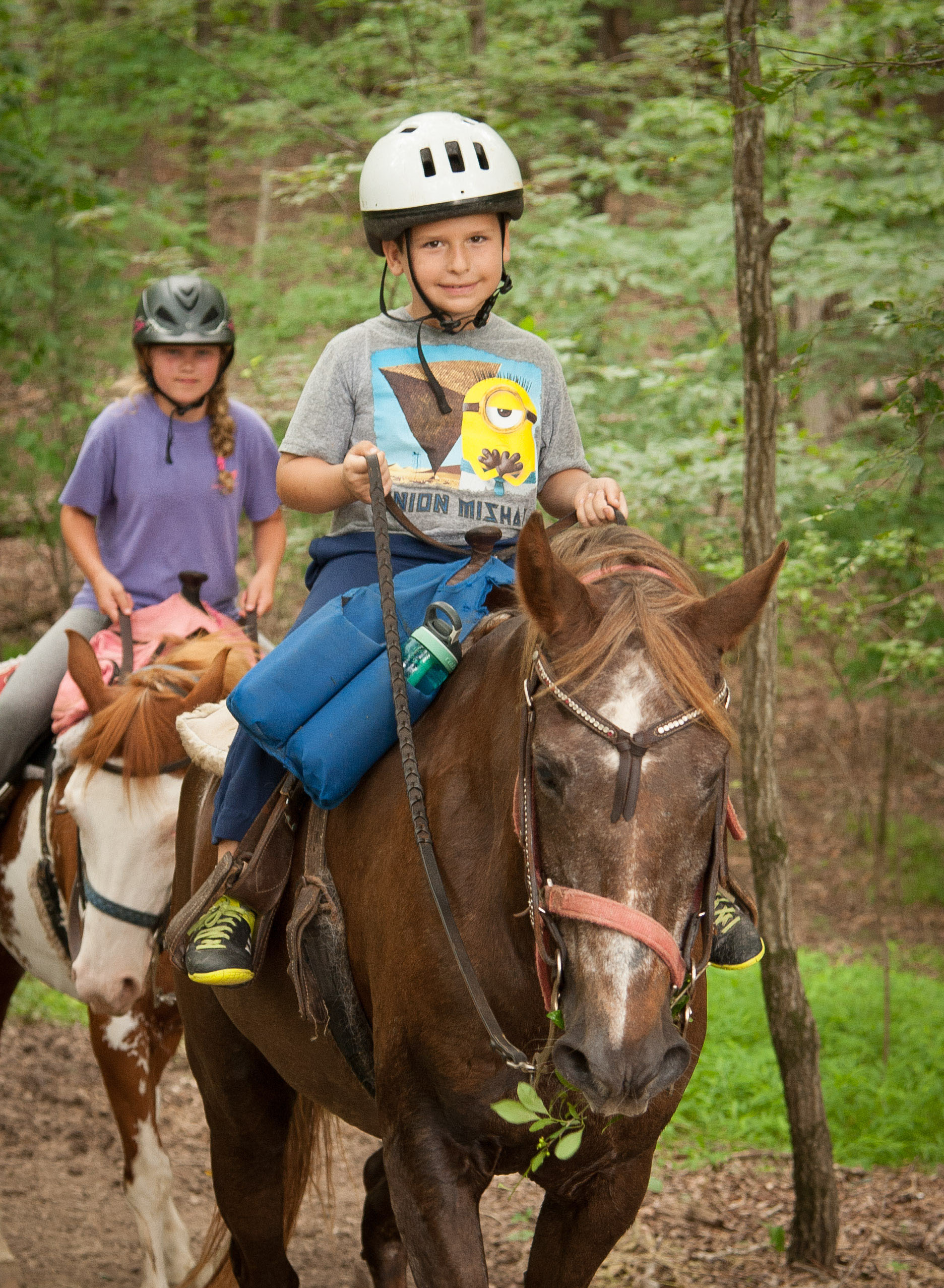 Young Boy Horseback Riding on His Birthday
