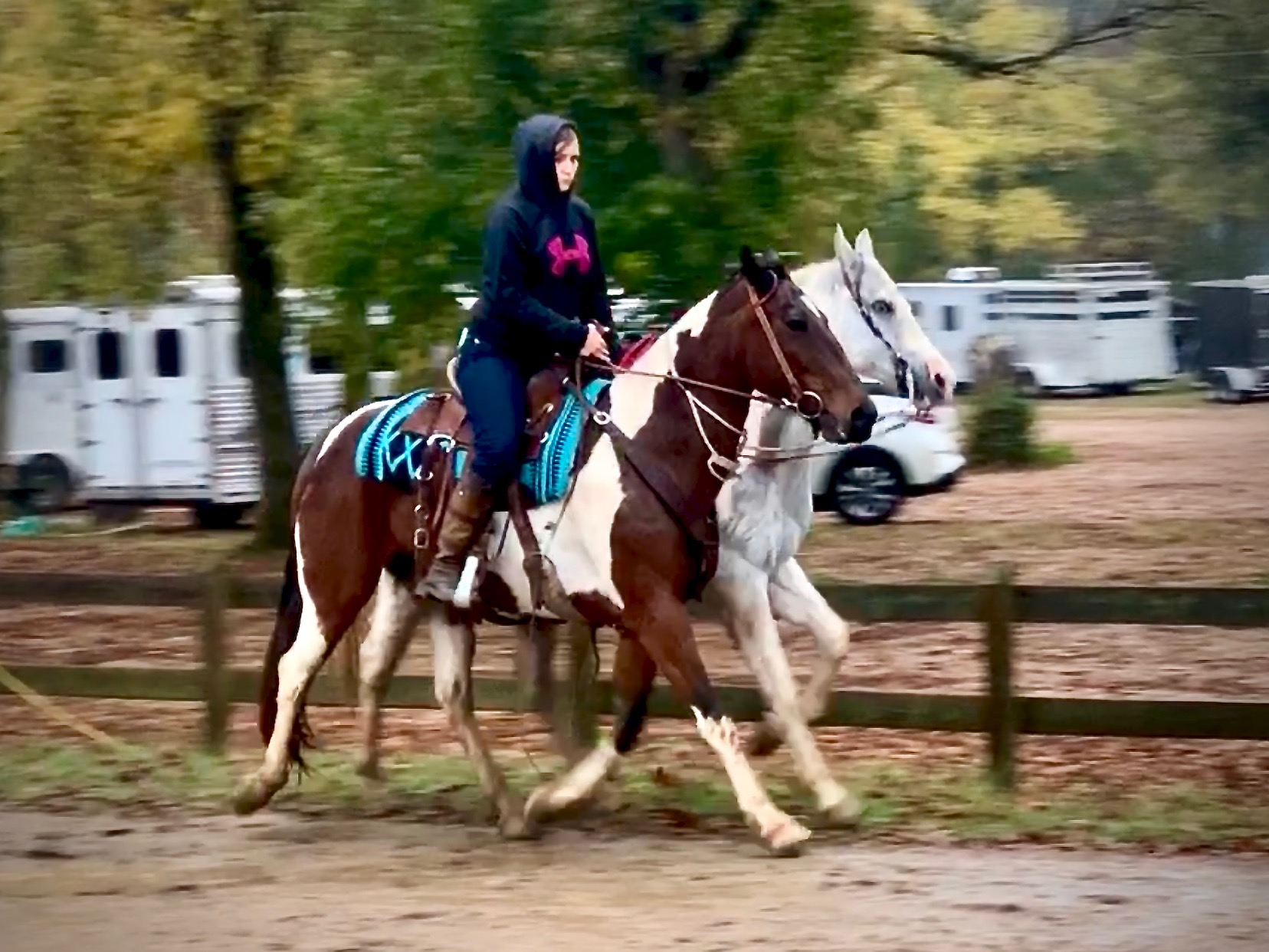 Tanya_and_Sheriff_Trotting_While_Ponying